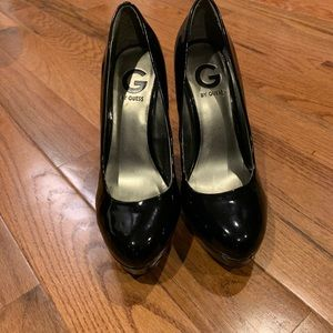 Guess Black Patent Leather Pumps 5 inch Heel